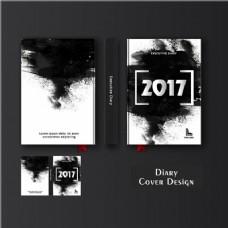 黑漆日记封面模板