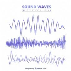 紫色声波采集