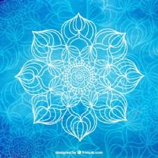 蓝色的瑜伽背景