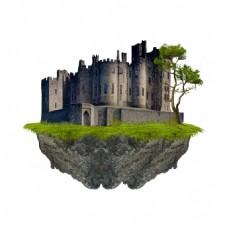 黑色岩石建筑景观元素
