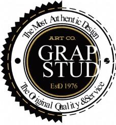 简单创意设计带边齿纹标签