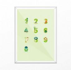 唯美数字创意字体设计