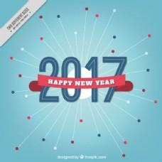 带丝带的新年背景