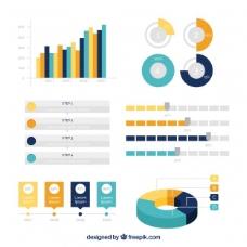 在平面设计有用的信息图表元素变化