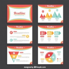 彩色业务演示模板
