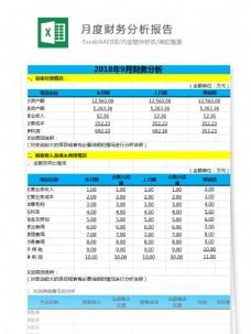 月度财务分析报告Excel文档