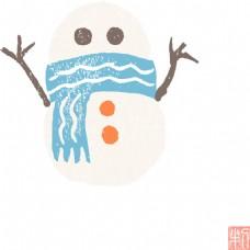 可爱雪人设计素材