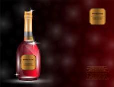 酒瓶与梦幻光斑图片