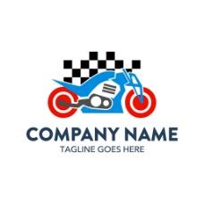 方格摩托车标志图片