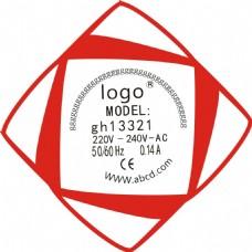 红色简洁商标