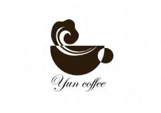 云咖啡logo设计