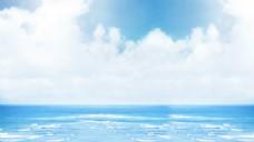 海滩大海蓝天风景