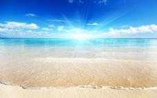 海滩风景背景图片素材1