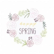 春天的花环设计