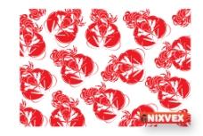 红色矢量大龙虾