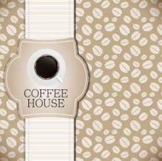 创意咖啡豆背景