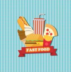 西餐食物矢量背景
