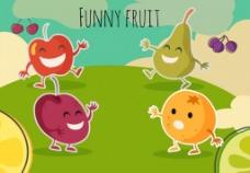 可爱水果矢量图