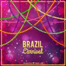 丰富多彩的巴西狂欢节的背景,背景虚化效果