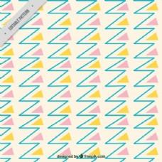 线和三角形的图案