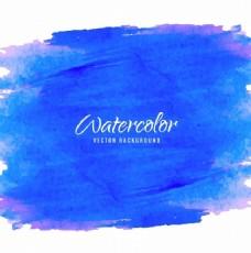 与水彩画的艺术背景,蓝色和紫色