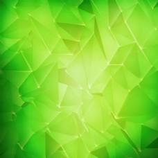 绿色立体几何背景素材