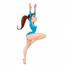 卡通的芭蕾舞者
