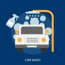 洗车背景设计