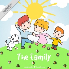 晴天快乐的家庭背景