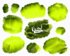 绿色水墨背景图片