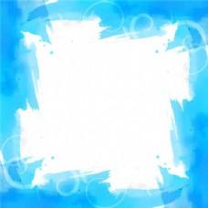 蓝色背景与水彩框架