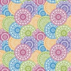 与圆形曼荼罗图案的彩色背景
