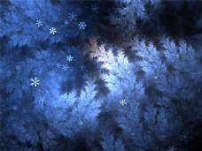 冬天的夜里背景图
