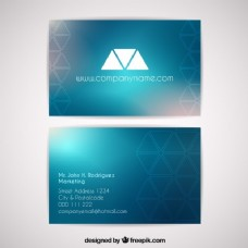 具有几何形态和模糊效果的企业名片