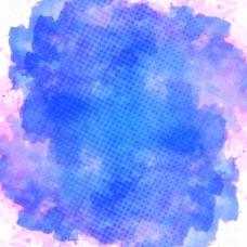 水彩颜料,蓝色和粉红色