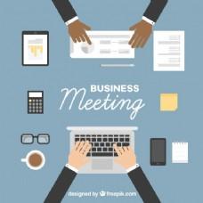 平面设计商务会议的背景