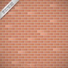 逼真红色砖墙装饰图案背景