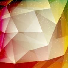 彩色几何立体背景素材