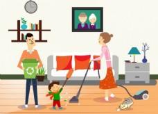 家庭清洁卫生背景图