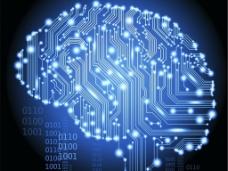 科技大脑背景图片
