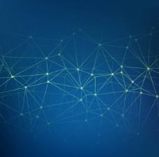 技术蓝色背景点和黄线