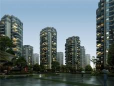 繁华城市高楼大厦设计图
