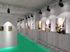 毕业设计展览厅效果图3Dmax模型