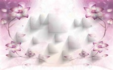 3D欧式花纹立体背景墙
