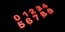 金属立体数字