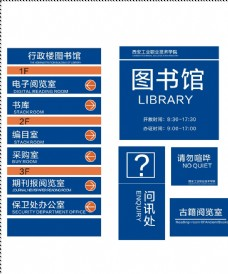 图书馆标牌