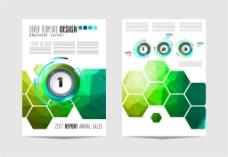 绿色六边形画册图片