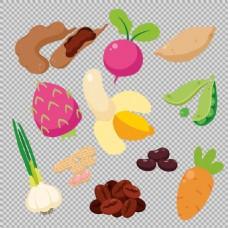 各种手绘风格蔬菜免抠png透明图层素材