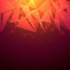 闪亮的抽象背景,有连接点、线和三角形的几何元素。