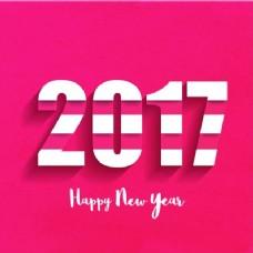 新年的粉色和白色背景